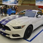 Ford Mustang coupe front three quarters left side at 2016 Bologna Motor Show