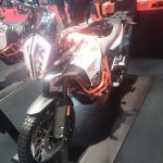 KTM 1290 Super Adventure R front three quarter at New York IMS