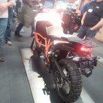 KTM 1290 Super Adventure R srear three quarter at New York IMS