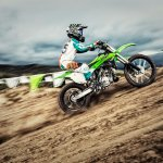 Kawasaki KX100 side motion