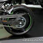 Kawasaki Ninja 300 KRT Winter Test rear wheel at Thai Motor Expo