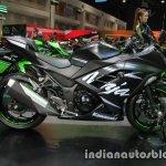 Kawasaki Ninja 300 KRT Winter Test side right at Thai Motor Expo