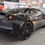 Lotus Evora 400 rear three quarters at 2016 Bologna Motor Show