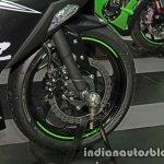 New Kawasaki Ninja 300 front wheel at Thai Motor Expo