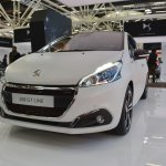 Peugeot 208 GT Line front three quarters at 2016 Bologna Motor Show