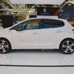 Peugeot 208 GT Line profile at 2016 Bologna Motor Show