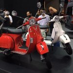 Vespa PX125 front three quarter at Thai Motor Expo