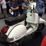 Vespa PX125 rear three quarter at Thai Motor Expo