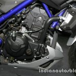 Yamaha MT-03 engine at Thai Motor Expo