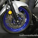Yamaha MT-03 front wheel at Thai Motor Expo