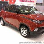 2017 Mahindra KUV100 anniversary edition dual tone front three quarter