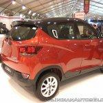 2017 Mahindra KUV100 anniversary edition dual tone rear three quarter