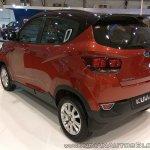 2017 Mahindra KUV100 anniversary edition dual tone rear three quarters