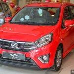 2017 Perodua Axia (facelift) front three quarters