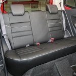 2017 Perodua Axia (facelift) rear seats