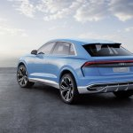 Audi Q8 concept rear three quarter debut