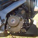 Bajaj Domianr 400 Twilight Plum engine