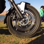 Bajaj Dominar 400 Moon White front wheel
