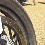 Bajaj Dominar 400 front tyre MRF badging