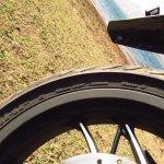 Bajaj Dominar 400 rear tyre MRF badging