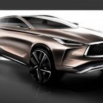 Infiniti QX50 Concept front three quarters right side sketch
