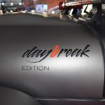 Mahindra Thar Daybreak Edition with solid roof 'daybreak edition' branding at Surat International Auto Expo 2017