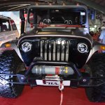 Mahindra Thar Daybreak Edition with solid roof front at Surat International Auto Expo 2017
