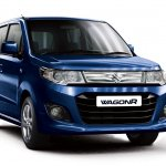 Maruti WagonR Vxi+ midnight blue front three quarter
