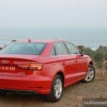 2017 Audi A3 sedan (facelift) rear quarter far First Drive Review