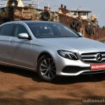 2017 Mercedes E Class (LWB) front three quarter First Drive Review