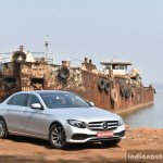 2017 Mercedes E Class (LWB) front three quarter far First Drive Review