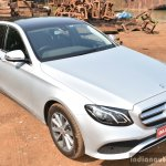 2017 Mercedes E Class (LWB) front up First Drive Review
