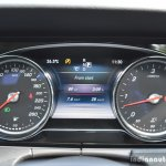 2017 Mercedes E Class (LWB) instrument cluster First Drive Review