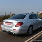 2017 Mercedes E Class (LWB) rear quarter dynamic First Drive Review