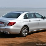2017 Mercedes E Class (LWB) rear three quarter First Drive Review