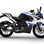 Bajaj Pulsar RS200 side Racing Blue