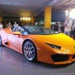 Lamborghini Huracan RWD Spyder front three quarters