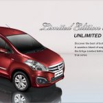 Maruti Ertiga Limited Edition front three quarters