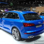 2017 Audi SQ5 rear three quarter at the Geneva Motor Show