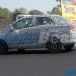 2017 Chevrolet Beat Essentia rear three quarters spy shot