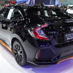 2017 Honda Civic Hatchback rear quarter at the BIMS 2017