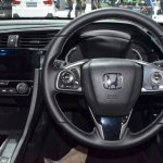 2017 Honda Civic Hatchback steering wheel at the BIMS 2017