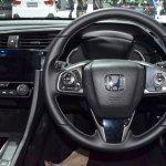 2017 Honda Civic Hatchback steering wheel at the BIMS 2017