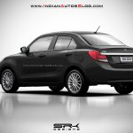 2017 Maruti Swift Dzire (3rd gen) black rendered