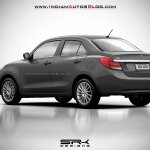 2017 Maruti Swift Dzire (3rd gen) gray rendered
