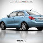 2017 Maruti Swift Dzire (3rd gen) light blue rendered