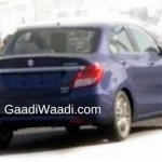 2017 Maruti Swift Dzire (3rd gen) rear spied undisguised