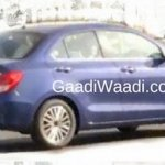 2017 Maruti Swift Dzire (3rd gen) rear three quarter spied undisguised