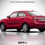 2017 Maruti Swift Dzire (3rd gen) red rendered