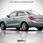 2017 Maruti Swift Dzire (3rd gen) silver rendered
